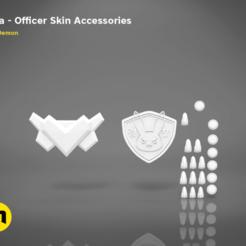 Descargar archivos STL Accesorios para oficiales de D.Va, 3D-mon