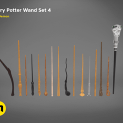 Download 3D model Harry Potter Wand Set 4, 3D-mon