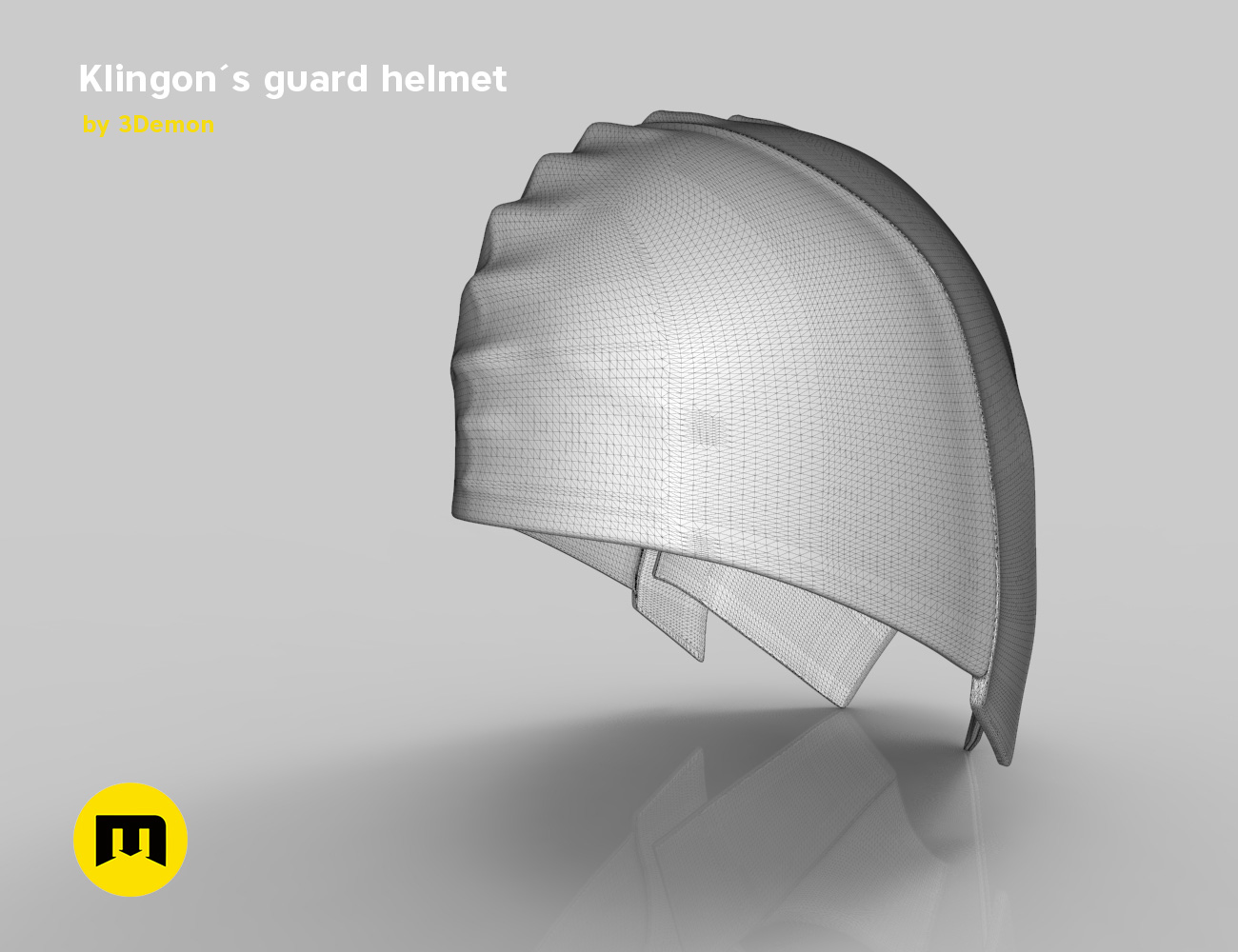 render_klingon_mesh.42.jpg Download STL file Klingon guard helmet • 3D printer object, 3D-mon