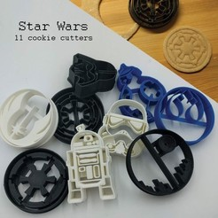 3D printing model Star Wars Cookie cutters, 3D-mon
