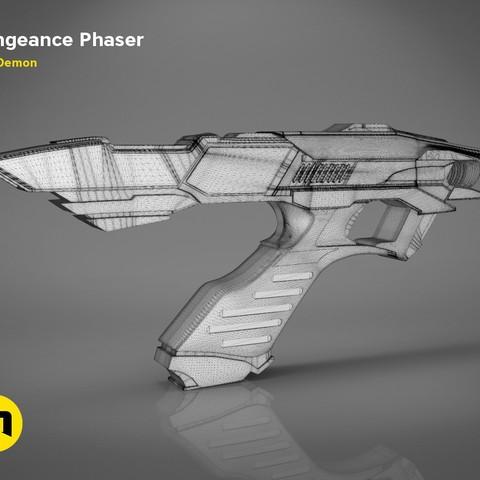 Vengeance-mesh.339.jpg Download OBJ file Vengeance Phaser -Star Trek • 3D printer object, 3D-mon