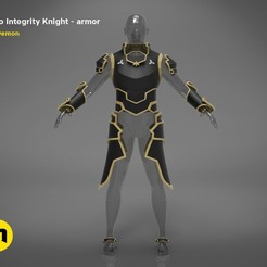 render_scene_Integrity-knight-Kirito-color kopie.jpg Download STL file Kirito's full size armor - Integrity Knight • 3D print model, 3D-mon