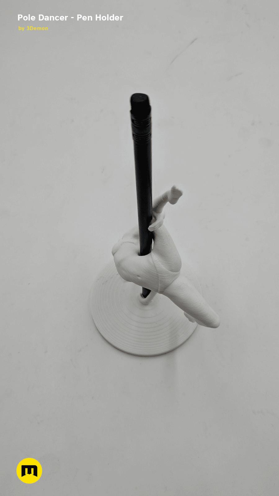 IMG_20190219_142154.png Download STL file Pole Dancer - Pen Holder • Object to 3D print, 3D-mon