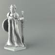 3D printing model ELF PALADIN FEMALE CHARACTER GAME FIGURES 3D print model, 3D-mon