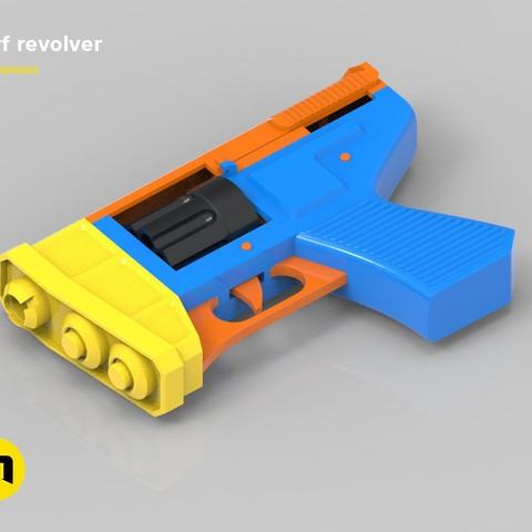 Download 3D printing templates Nerf revolver, 3D-mon