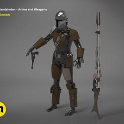 Descargar archivos STL Los mandalorianos - armadura completa y armas, 3D-mon