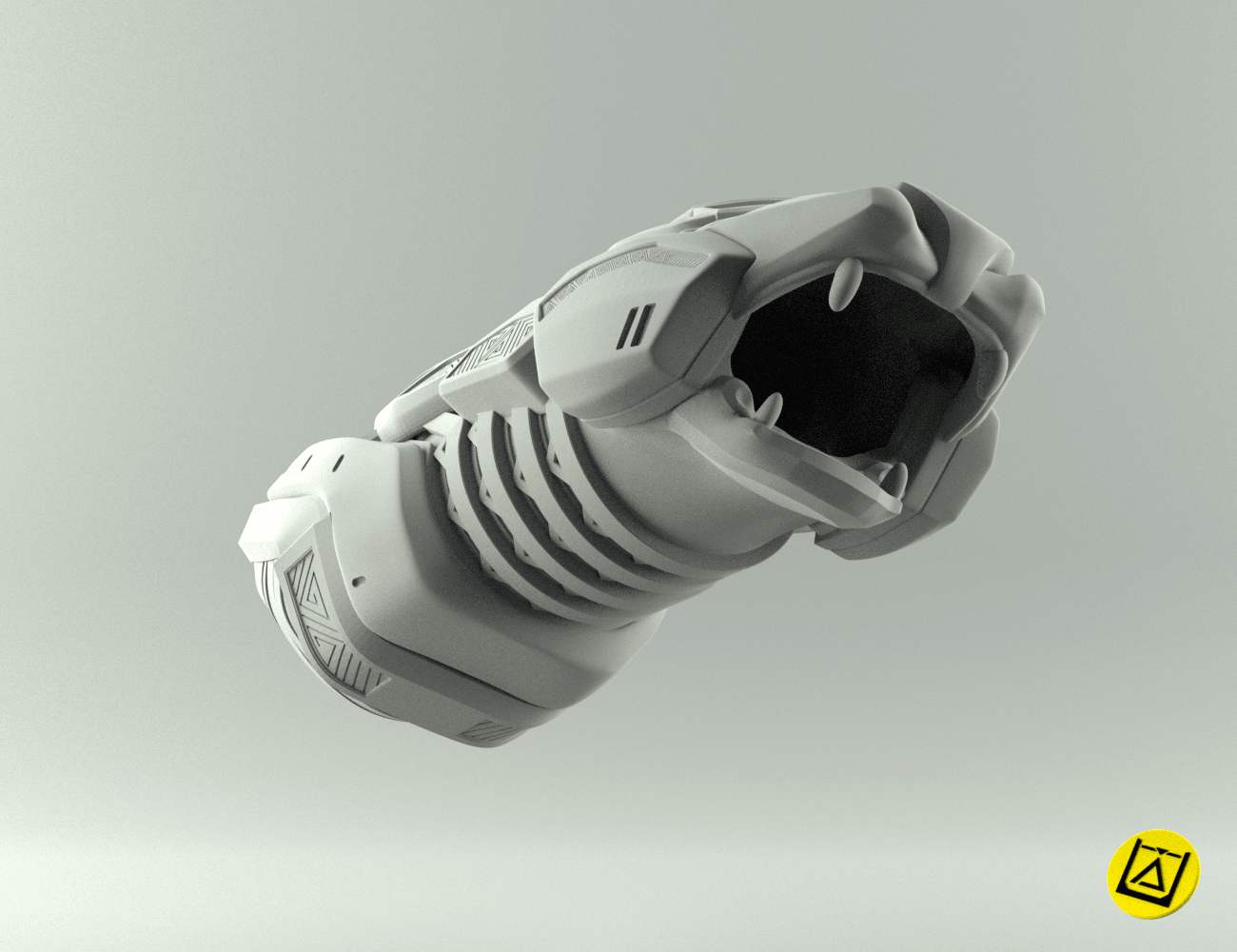 blastersbigrender3.png Download STL file Shuri Vibranium Blasters • 3D print model, 3D-mon