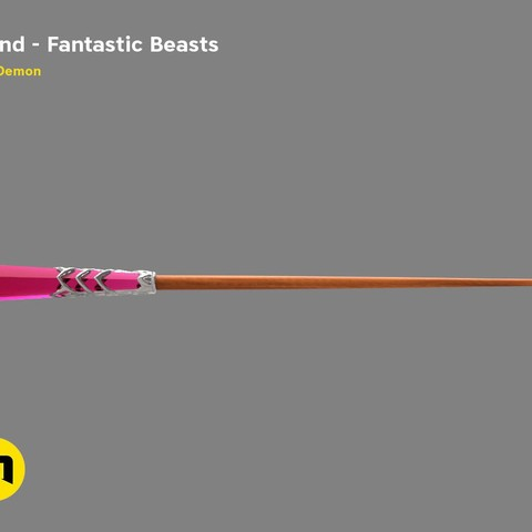 Download 3D printer designs Seraphina Picquery's Wand from Fantastic Beasts', 3D-mon