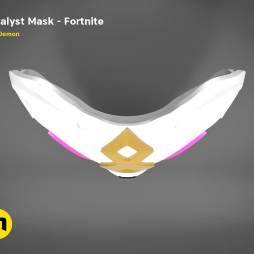 catalyst mask _ keyshot-top.416.png Download STL file Fortnite Catalyst Mask • 3D print model, 3D-mon