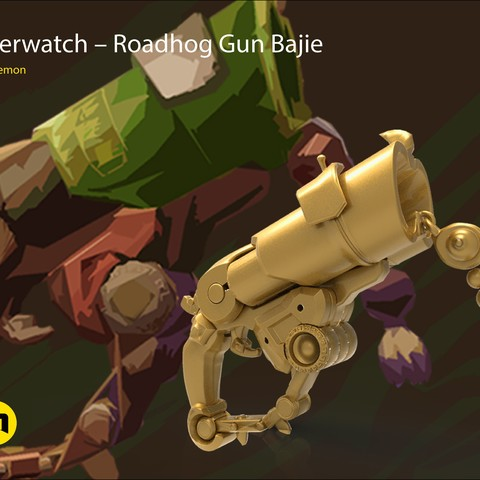 CGTrader_Roadhog_gun_bajie.jpg Download STL file Overwatch Roadhog Gun Bajie • Model to 3D print, 3D-mon