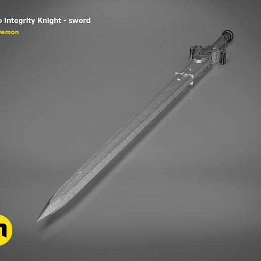 render_scene_Integrity-knight-sword-mesh.22 kopie.jpg Download STL file Kirito's Sword - Integrity Knight • 3D print model, 3D-mon