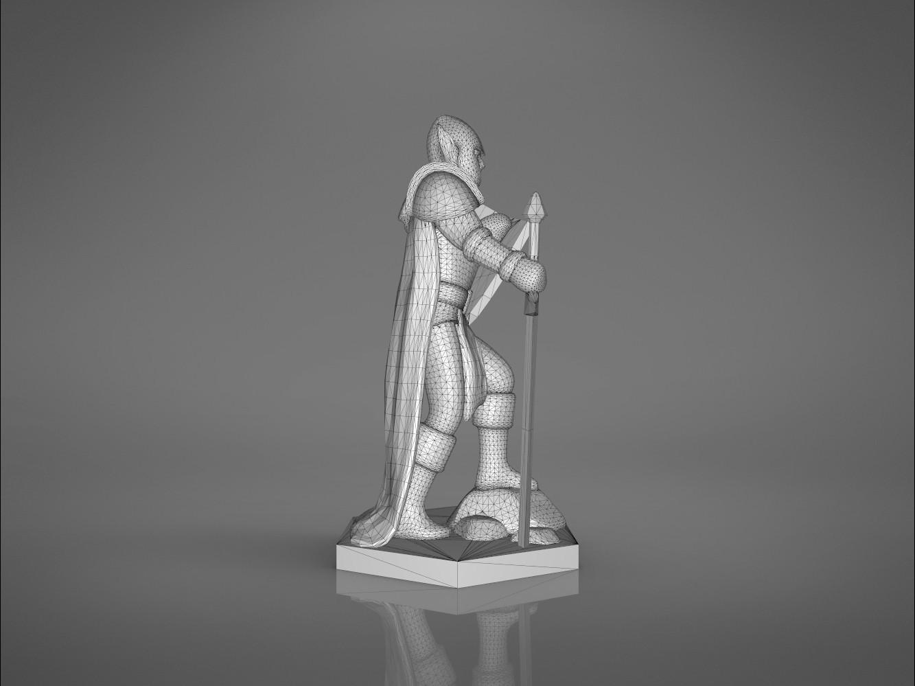 Warrior-left_perspective.371.jpg Download STL file ELF WARRIOR CHARACTER GAME FIGURE 3D print model • Object to 3D print, 3D-mon