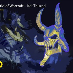 STL files WoW Kel'Thuzad Mask, 3D-mon