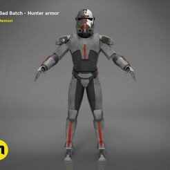 Bad-Batch-Hunter-render_scene-color.210.jpg Télécharger fichier STL L'armure du chasseur de mauvais lots • Design à imprimer en 3D, 3D-mon