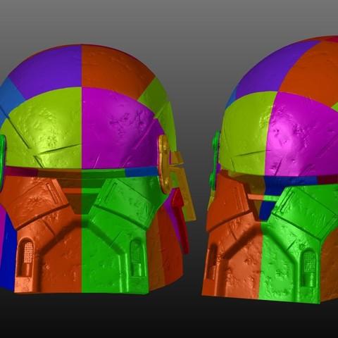 Armory Infographic.jpg Download OBJ file Armory - Knights of Ren Helmet (damaged), 3D print model • 3D print design, 3D-mon