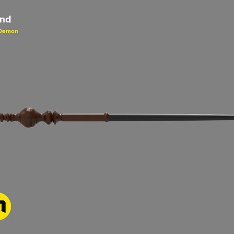 Descargar modelos 3D Minerva McGonagall 's Wand de Harry Potter, 3D-mon