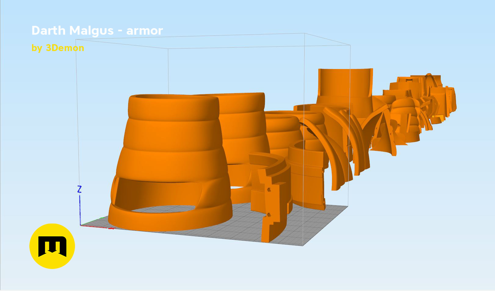 Darth-malgus-parts3.jpg Download STL file Darth Malgus's full size armor • Design to 3D print, 3D-mon