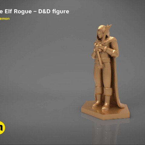 image about 3d Printable Figures known as ELF ROGUE Identity Activity Studies 3D print fashion