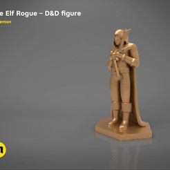 Télécharger STL ELF ROGUE CARACTER GAME GAME FIGURES Modèle d'impression 3D, 3D-mon