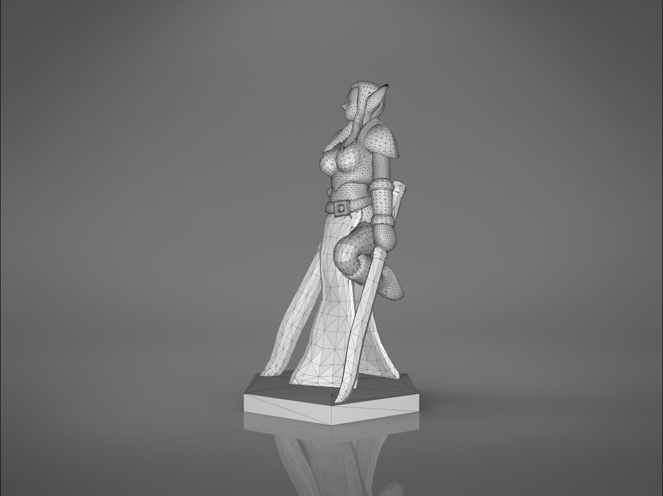 Warrior_2-right_perspective.331.jpg Download STL file ELF WARRIOR FEMALE CHARACTER GAME FIGURE 3D print model • 3D printing object, 3D-mon