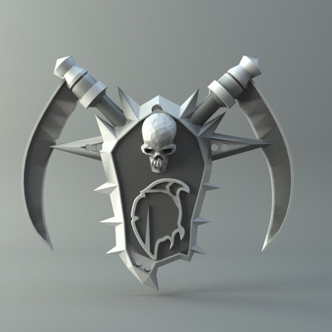 Download free 3D printing models Undead amulet from World of Warcraft, 3D-mon
