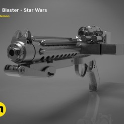 Download 3D printing templates The Blaster E-11 - Star Wars , 3D-mon