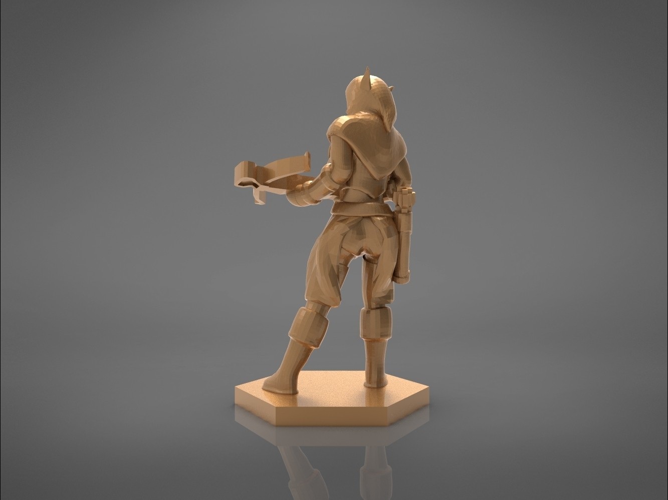 female_ranger-back_perspective.528.jpg Download STL file ELF RANGER FEMALE CHARACTER GAME FIGURES 3D print model • 3D printing object, 3D-mon