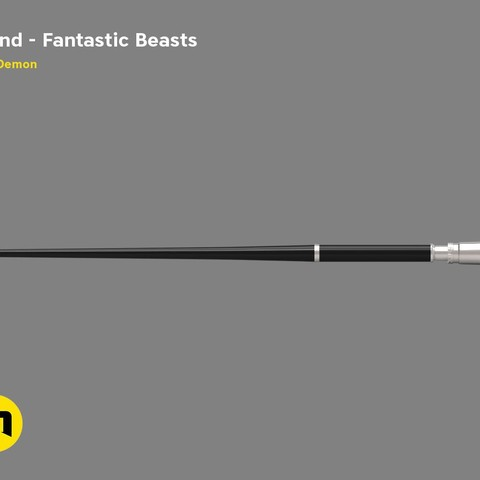 Download 3D printer designs Percival Graves' Wand from Fantastic Beasts', 3D-mon