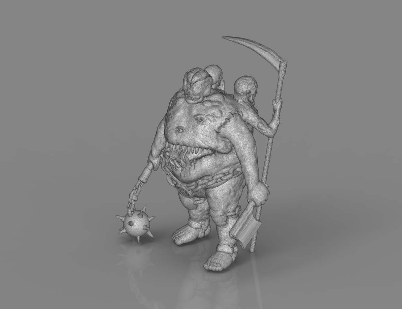 mesh_scene.7.png Download STL file Pirfes figure - 3D print model • Design to 3D print, 3D-mon
