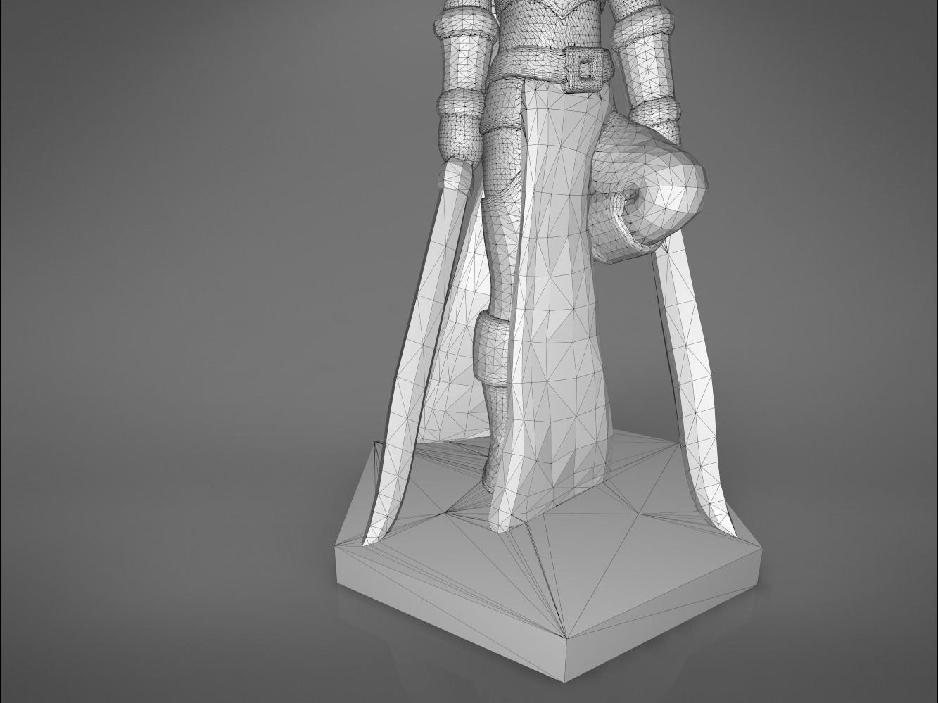 Warrior_2-detail_2.345.jpg Download STL file ELF WARRIOR FEMALE CHARACTER GAME FIGURE 3D print model • 3D printing object, 3D-mon