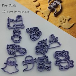 3D print files For kids Cookie cutters, 3D-mon