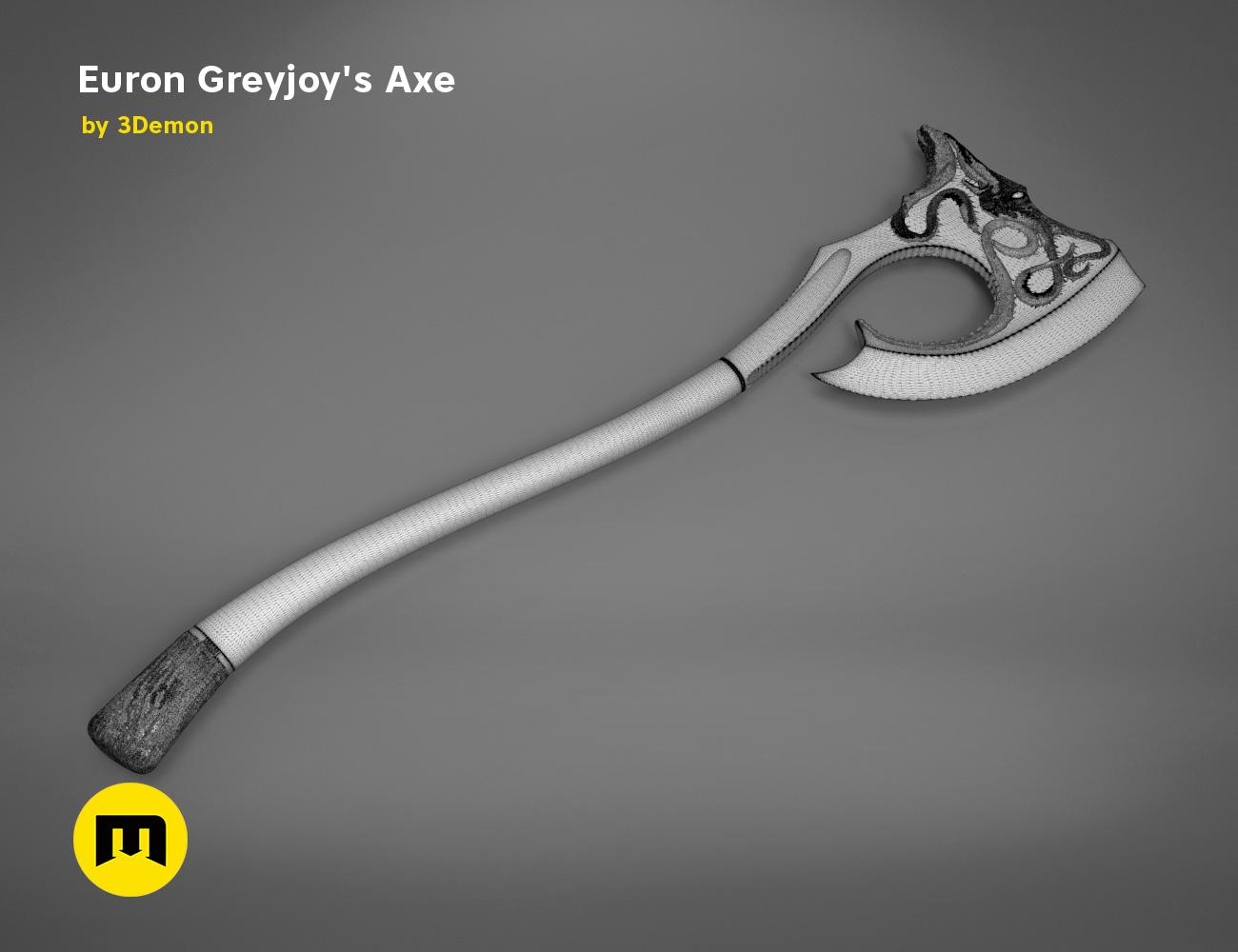 axe-gameofthrones-mesh.986.jpg Download OBJ file Euron Greyjoy's Axe • 3D printable object, 3D-mon