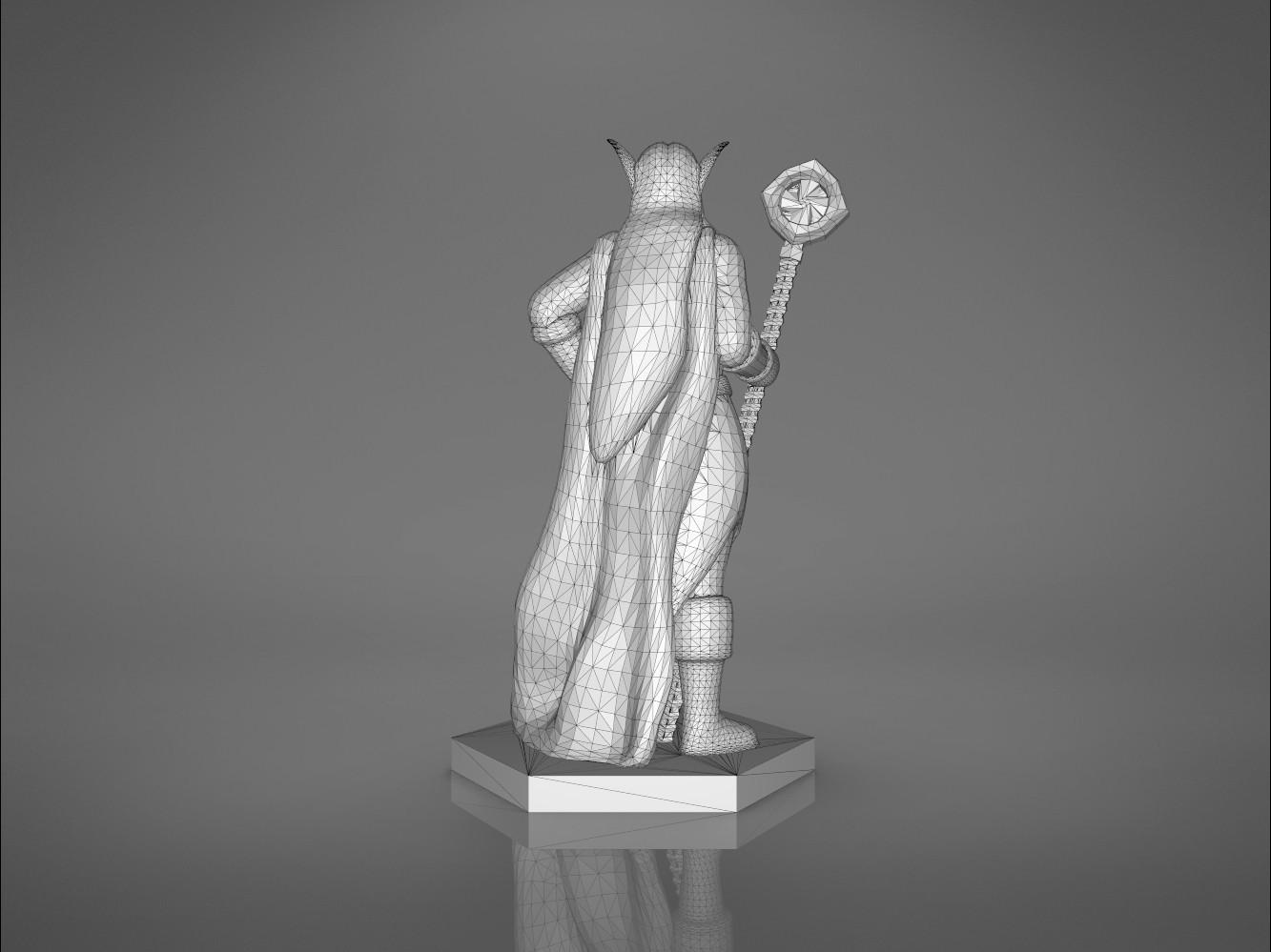 Mage_2_-back_perspectivve.175.jpg Download STL file ELF MAGE FEMALE CHARACTER GAME FIGURES 3D print model • 3D printing template, 3D-mon