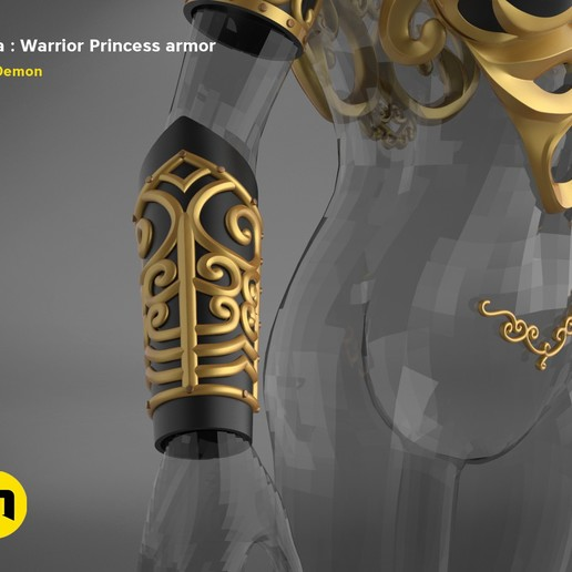 render_scene_Xena-armor-color.7.jpg Download STL file Xena - Warrior Princess cosplay armor • 3D print template, 3D-mon