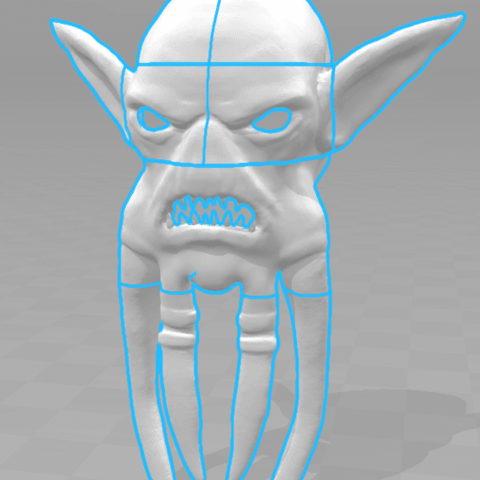 Screenshot_1.png Download STL file Mask of Akama's face from World of Warcraft • Model to 3D print, 3D-mon