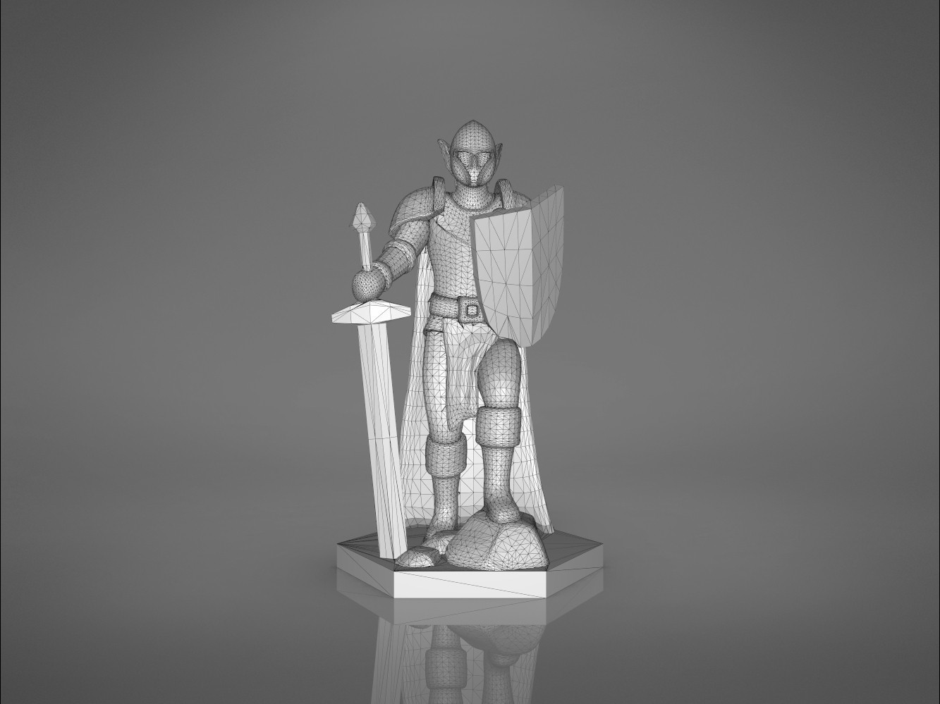 Warrior-front_perspective.375.jpg Download STL file ELF WARRIOR CHARACTER GAME FIGURE 3D print model • Object to 3D print, 3D-mon