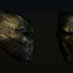 Download 3D printer designs Black Panther Mask from Civil War 3D print model, 3D-mon