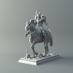 Archivos 3D Warrior on horse - kit para la impresión 3D modelo de impresión 3D, 3D-mon