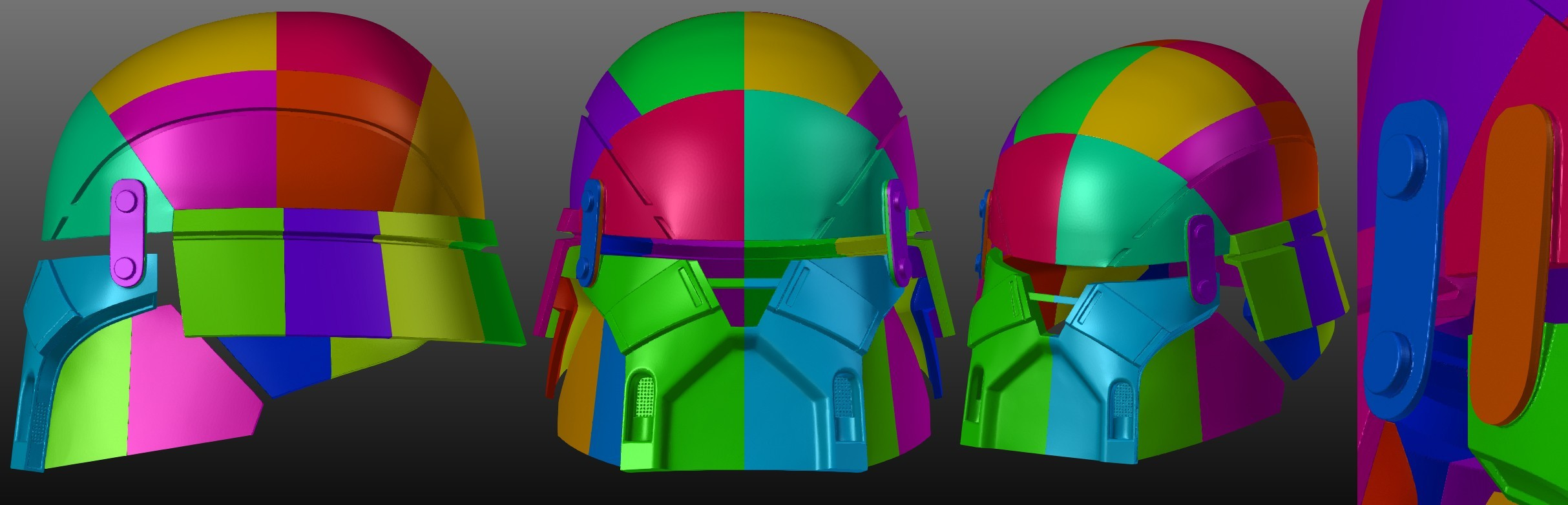 Armory_Fianal.jpg Download STL file Armory - Knights of Ren Helmet, StarWars model for 3D Print • 3D printing design, 3D-mon