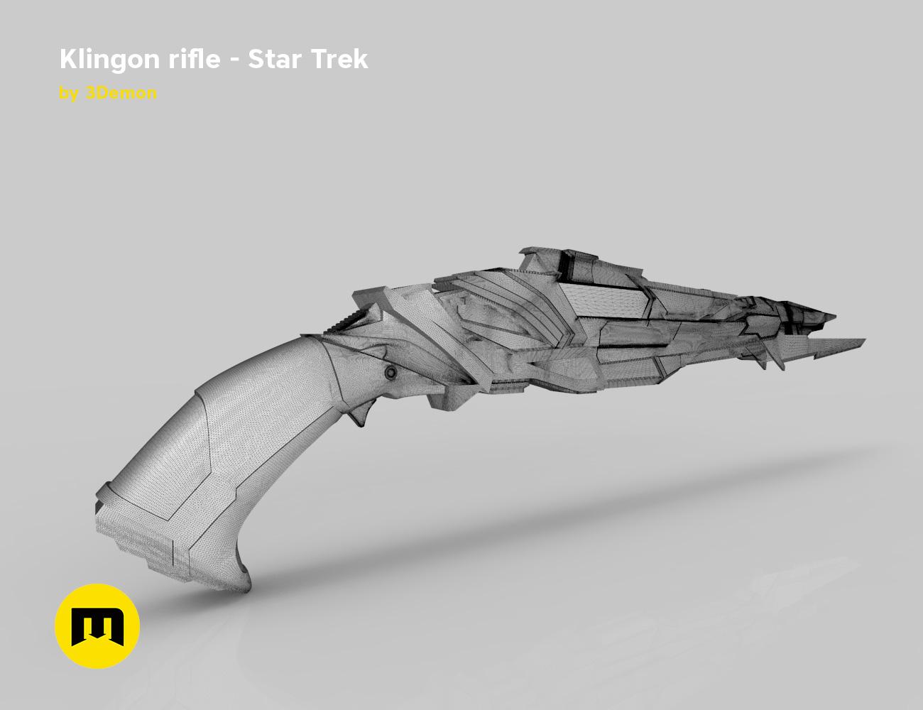 render_rifle_mesh.799.jpg Download STL file Klingon rifle • Model to 3D print, 3D-mon