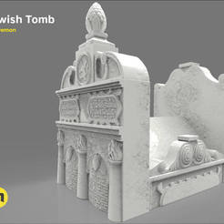 3D printer files JEWISH TOMB, 3D-mon