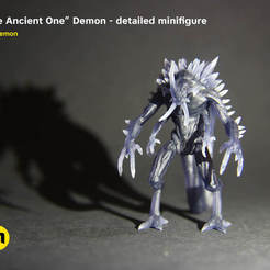 "3D print files ""The Ancient One"" Demon - board game figure, 3D-mon"