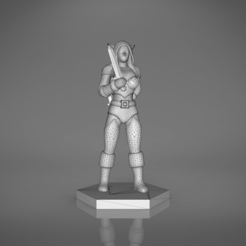 Rogue_2-front_perspective.459.jpg Download STL file ELF ROGUE FEMALE CHARACTER GAME FIGURES 3D print model • 3D printer object, 3D-mon