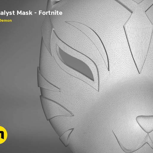 catalyst mask _ keyshot.409.png Download STL file Fortnite Catalyst Mask • 3D print model, 3D-mon