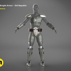 render_scene_jedi_armor-color.200 kopie.jpg Download STL file Jedi Knight Armor • 3D print template, 3D-mon