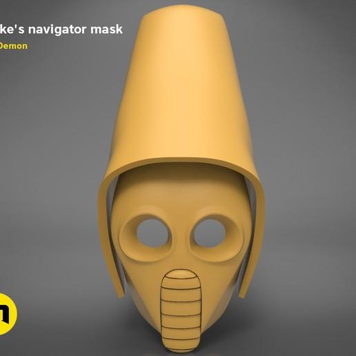 Download 3D printing files Snokes Navigator Mask - Star Wars , 3D-mon