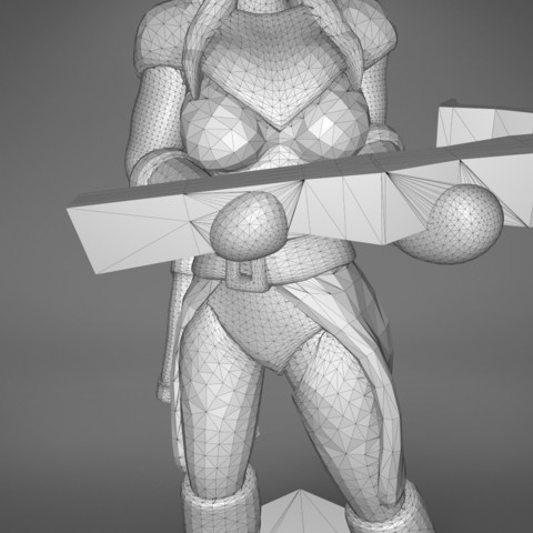 female_ranger-detail_3.542.jpg Download STL file ELF RANGER FEMALE CHARACTER GAME FIGURES 3D print model • 3D printing object, 3D-mon