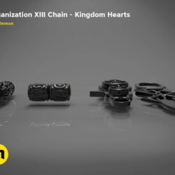Download 3D printing templates Beads of Organization XIII from Kingdom Hearts, 3D-mon