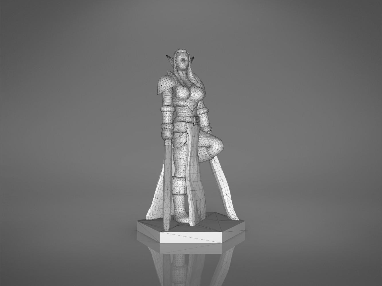 Warrior_2-front_perspective.337.jpg Download STL file ELF WARRIOR FEMALE CHARACTER GAME FIGURE 3D print model • 3D printing object, 3D-mon