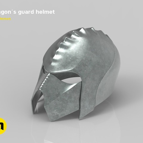 render_klingon_color.56.jpg Download STL file Klingon guard helmet • 3D printer object, 3D-mon